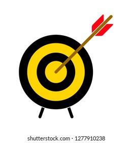target icon - target arrow isolated, dartboard illustration- Vector dart