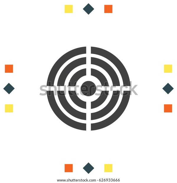 Target icon, Bullseye symbol