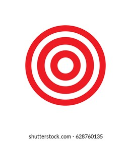 Target icon, dartboard symbol. Goal pictogram, flat vector sign isolated on white background. Simple vector illustration for graphic and web design.
