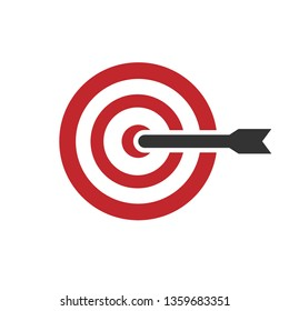 Target Icon. Goal or Focus Illustration As A Simple Vector Sign & Trendy Symbol for Design and Websites, Presentation or Mobile Application.