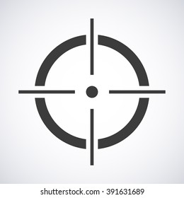 Target icon isolated on a gray background, vector illustration stylish for web design