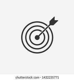Target icon isolated on white background. Vector illustration. Eps 10.