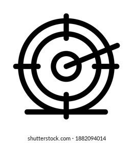 target icon or logo isolated sign symbol vector illustration - high quality black style vector icons