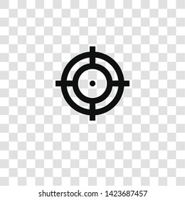 target icon from miscellaneous collection for mobile concept and web apps icon. Transparent outline, thin line target icon for website design and mobile, app development