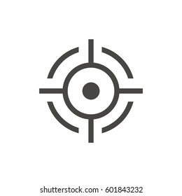 target icon on white background vector