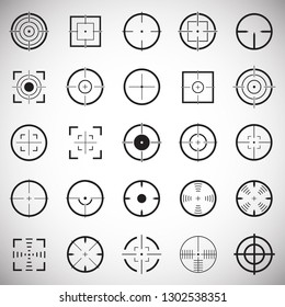 Target icon set on white background for graphic and web design, Modern simple vector sign. Internet concept. Trendy symbol for website design web button or mobile app
