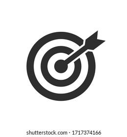 Target icon set on white background