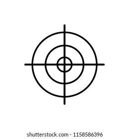 Target icon, sight sniper symbol