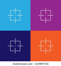 target icon, sight sniper symbol line icon. Elements of military illustration icons. Signs, symbols can be used for web, logo, mobile app, UI, UX
