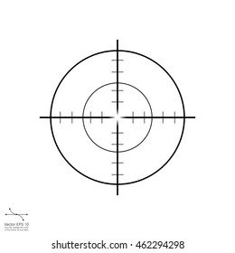 Target icon, sight sniper symbol isolated on white background, Crosshair and aim vector illustration, Target  icon in trendy flat style isolated on white background. Symbol for your web site design