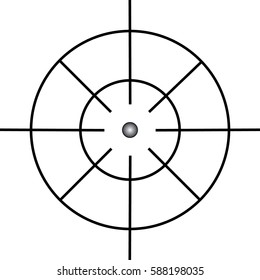 Target icon, sight sniper symbol isolated on white background, Crosshair and aim vector illustration