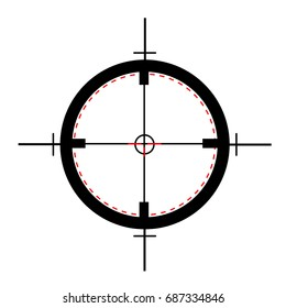 Target icon, sight sniper symbol isolated on white background, Crosshair and aim vector illustration. Symbol for your web site design