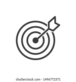 Target icon template color editable. Target symbol vector sign isolated on white background illustration for graphic and web design.