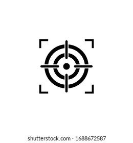 Target Icon vector. Target and arrow vector icon
