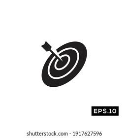 Target Icon Vector. Bullseye Symbol Vector