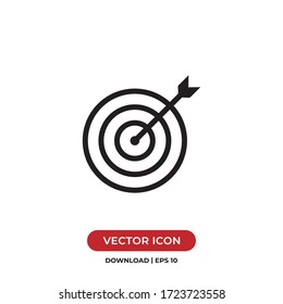 Target icon vector. Goal sign