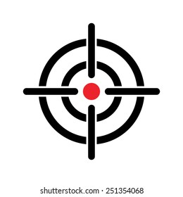Target icon, vector illustration