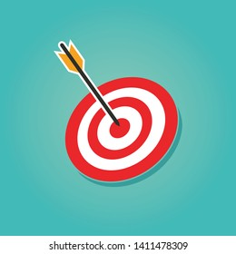 Target icon vector illustration design . Bow, center focus target
