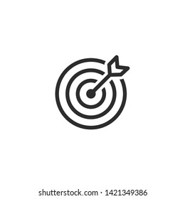 Target icon vector illustration on white background. Target symbol logo design inspiration