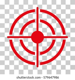 Target icon. Vector illustration style is flat iconic symbol, red color, transparent background. Designed for web and software interfaces.