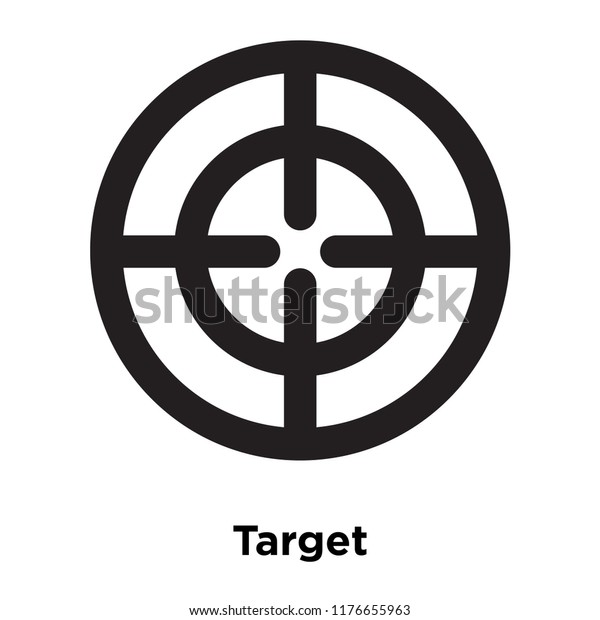 Target Icon Vector Isolated On White Stock Vector Royalty