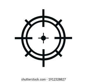 Target icon vector logo design illustration