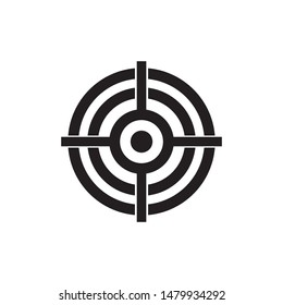 Target Icon vector. symbol for web site Computer and mobile vector.