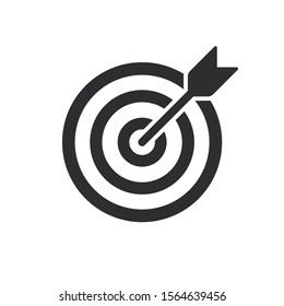 Target Icon vector. symbol for web site Computer and mobile vector