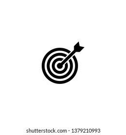 Target icon vector. Trendy design style on white background.