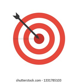 target icon vector,sucess idea concept,minimal vector