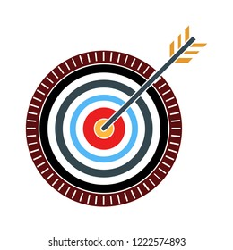 target icon-aim vector-arrow symbol-dart game illustration-goal sign-circle center isolated-goal concept-dartboard icon- strategy result vector