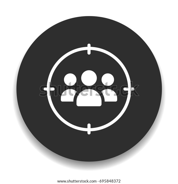 Target Icons Stock Vector Royalty Free 695848372