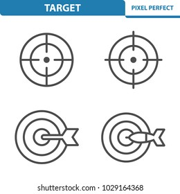 Target Icons. Professional, pixel perfect icons optimized for both large and small resolutions. EPS 8 format. 5x size for preview.