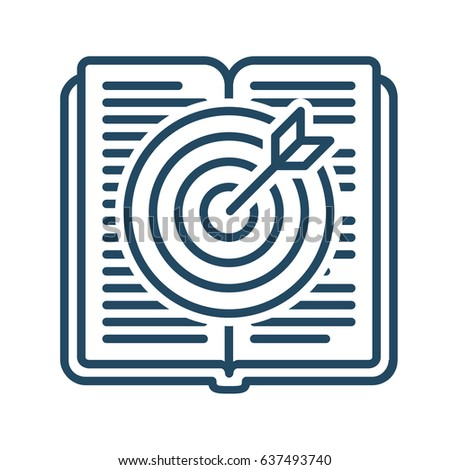 Target Inside Book Vector Icon Meaning Stock Vector Royalty Free