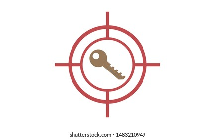 Target Keyword Icon. Target keywords creative icon. Simple element illustration. Target keywords concept symbol design from SEO collection.