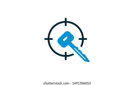 Target Keywords Colored Vector Icon