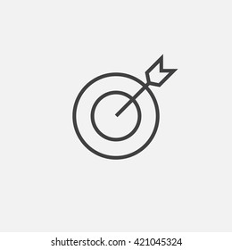 target line icon, outline vector logo illustration, linear pictogram isolated on white