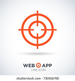 Target line vector icon