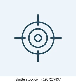 Target Line Vector Icon for Achievement, Success, Motivation and more. Editable Stroke. 48x48 Pixel Perfect