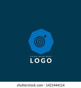 target logo concept. Designed for your web site design, logo, app, UI. map pin logo design. corporate identity logo. can be used for business company. modern illustration