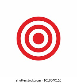 Target logo icon vector. 	 Business Goal sign