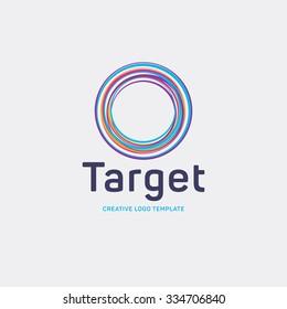 Target logo. Round logo. Planet logo. Circle logo. Spiral logo. Globe logo