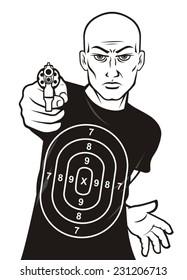 Target man shooting range