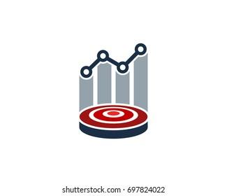 Target Market Icon Logo Design Element