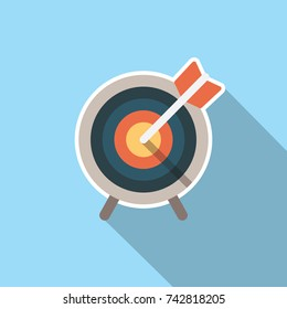 Target market icon w arrow and stand