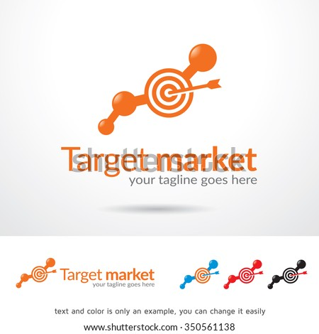target market logo template design vector stock vector royalty free