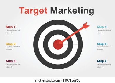 target marketing infographic illustration vector