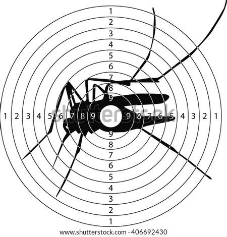 Target Mosquito Zika Virus Shooting Range Stock Vector Royalty Free