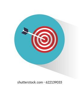 target objetive marketing concept