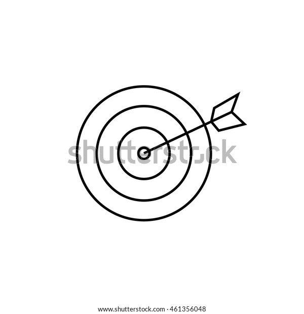 Target outline icon illustration isolated vector sign symbol